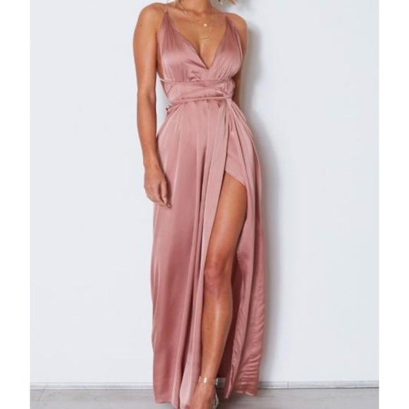 0758d80c9881 White Fox Boutique Dresses | White Fox Akela Maxi Dress Dusty Pink ...
